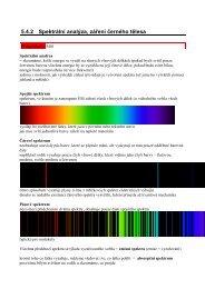 5.4.2 Spektrální analýza, záření černého tělesa