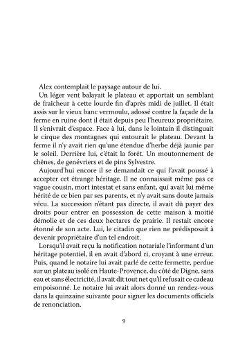 Télécharger l'extrait en pdf - Les éditions du bord du Lot