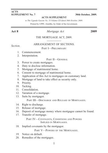 Mortgage Act No. 8 of 2009.pdf - ULII