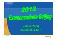 James Yang Vattenfall & KTH