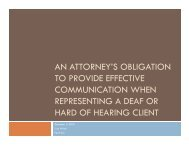 an attorney's obligation to provide effective communication when ...