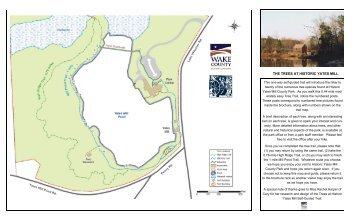 Tree Trail Brochure and Map - Wake County Government
