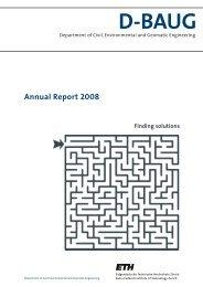 Annual Report 2008 - Departement Bau, Umwelt und Geomatik ...