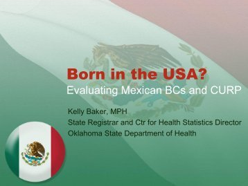 Born in the USA? - National Association for Public Health Statistics ...
