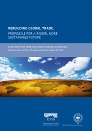 rebuilding global trade: proposals for a fairer, more ... - ictsd