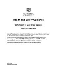 Safe Work in Confined Spaces -University guidance (PDF 98KB)