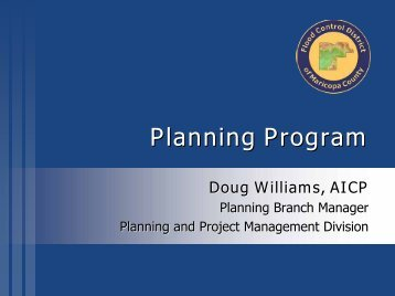 Planning - Flood Control District of Maricopa County