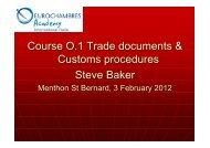O.1 Trade documents_day I - Eurochambres Academy