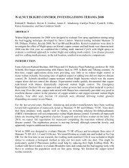 walnut blight control investigations tehama 2008 - Kings County