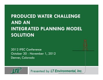 produced water challenge and an integrated planning model ... - IPEC