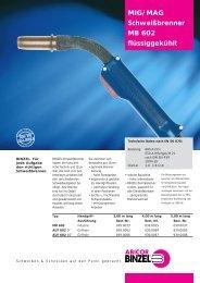 MIG/MAG Schweißbrenner MB 602 flüssiggekühlt - dpiaca