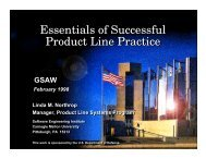 Essentials of Successful Product Line Practice - USC Center for ...