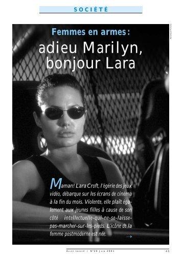 adieu Marilyn, bonjour Lara - Université de Lausanne