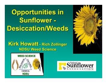 Desiccation/Weeds - National Sunflower Association