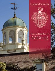 2012-13 Parent Handbook - The Loomis Chaffee School