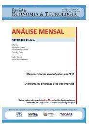 Novembro de 2012 - Revista Economia & Tecnologia ...