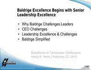 Malcolm Baldrige National Quality Award - Tennessee Center for ...