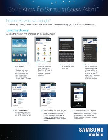 Browsing the Web - US Cellular