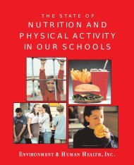 nutrition and physical activity in our schools - Environment & Human ...