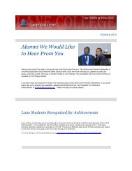 January Issue Alumni and Friends E-News Letter ... - Lane College