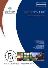 Comar 7Pi HSD Horizontal Sliding Door Brochure - Anglia Fixing