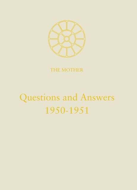 Questions and Answers 1950-1951