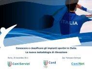 Conoscere e classificare gli impianti sportivi in Italia. La nuova ...