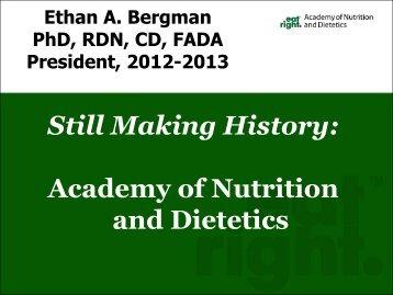 Making History: Academy Update