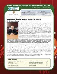 DEPARTMENT OF MEDICINE NEWSLETTER