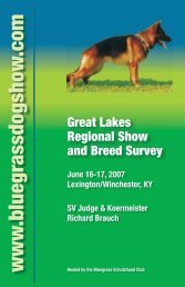Show Catalog - Bluegrass Schutzhund Club