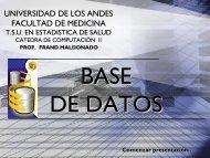 Base de datos - Medic.ula.ve