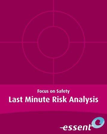 Last Minute Risk Analysis - Essent