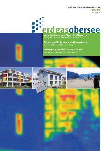 Kundenzeitschrift 2009-01 - Erdgas Obersee AG