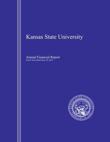 Fiscal Year Ending June 30, 2012 - Kansas State University