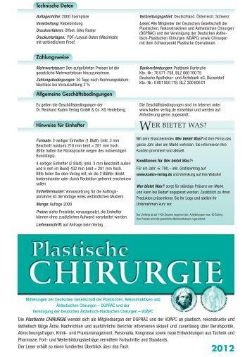 2012 - Dr. R. Kaden Verlag