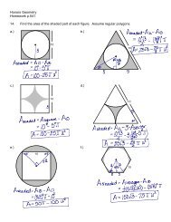 Honors Geometry Homework p.541 14. Find the area of the shaded ...