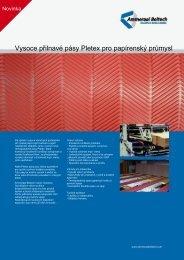 Vysoce přilnavé pásy Pletex pro papírenský průmysl
