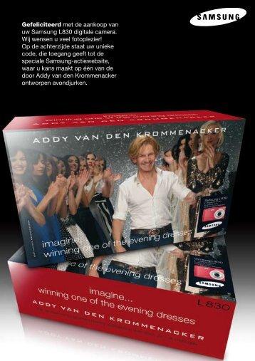 Gefeliciteerd met de aankoop van uw Samsung L830 ... - Wehkamp.nl