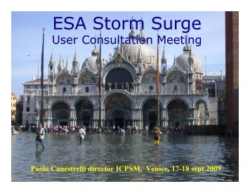 Opening and welcome address - Data User Element - ESA