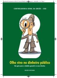 Cartilha Olho Vivo no Dinheiro Público - Controladoria-Geral da União