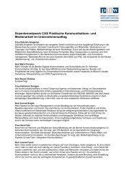 Dozentennetzwerk CAS Praktische Kommunikations - PHW ...