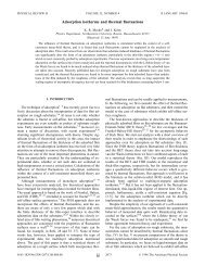 Adsorption isotherms and thermal fluctuations