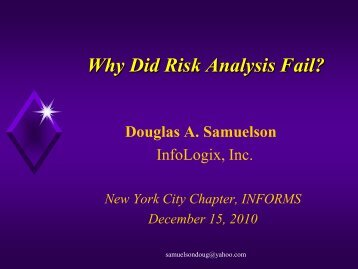 Presentation Slides - INFORMS NY