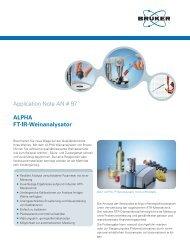 Application Note AN # 97 ALPHA FT-IR-Weinanalysator - Bruker