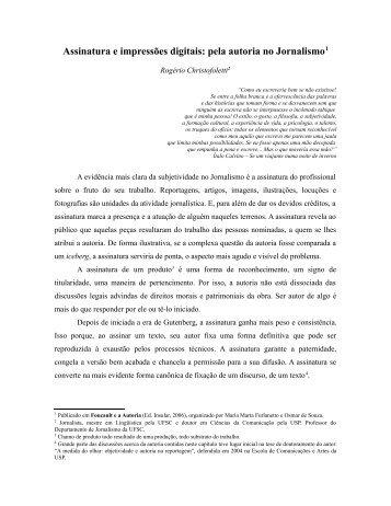 Assinatura e impressões digitais: pela autoria no ... - Monitorando