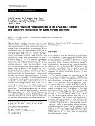 Novel and recurrent rearrangements in the CFTR gene: clinical and ...