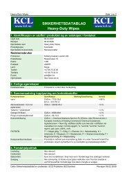SIKKERHETSDATABLAD Heavy-Duty Wipes - Kolberg Caspary ...