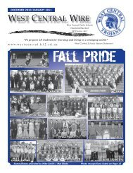 December/January '10-'11 Newsletter - West Central School District