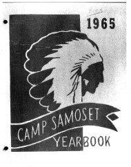 Page 1 Page 2 Page 3 Page 4 A YEÀRBOOK CAMP SAMOSET ...