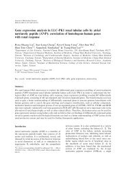 Gene expression analysis in LLC-PK1 renal tubular cells by atrial ...